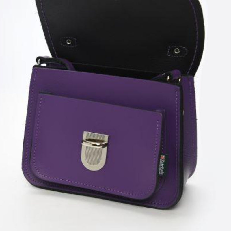 Luna Handmade Leather Bag - Purple
