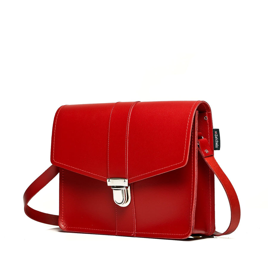 Red Leather Shoulder Bag - Shoulder Bag - Zatchels