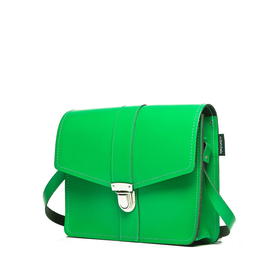 Green Leather Shoulder Bag - Shoulder Bag - Zatchels