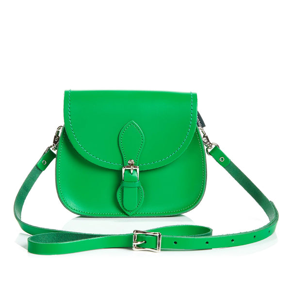 Green Leather Micro Saddle - Micro Saddle - Zatchels