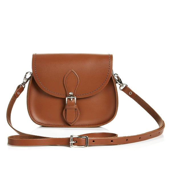 Chestnut Leather Micro Saddle - Micro Saddle - Zatchels