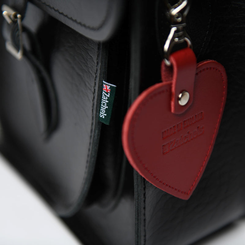Red Leather Heart Charm