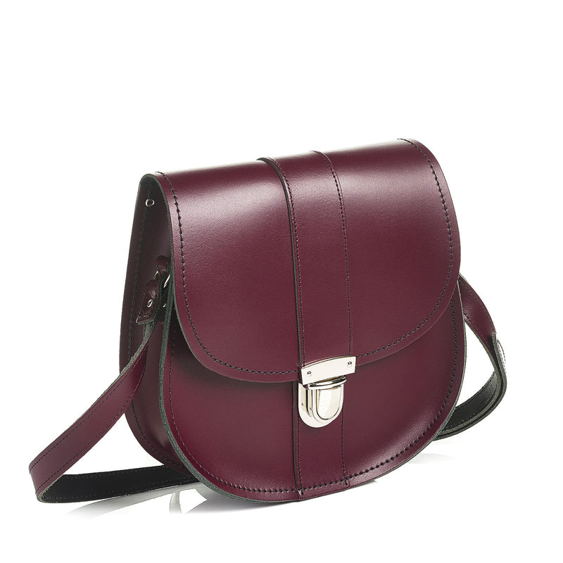 Marsala Red Leather Saddle Bag - Saddle Bag - Zatchels