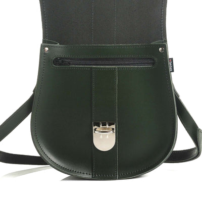 Ivy Green Leather Saddle Bag - Saddle Bag - Zatchels