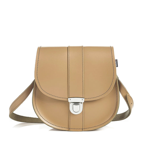 Iced Coffee Leather Saddle Bag - Saddle Bag - Zatchels