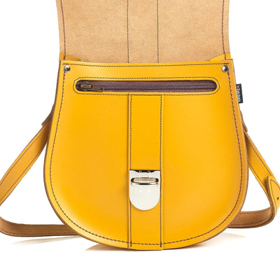 Yellow Ochre Leather Saddle Bag - Saddle Bag - Zatchels