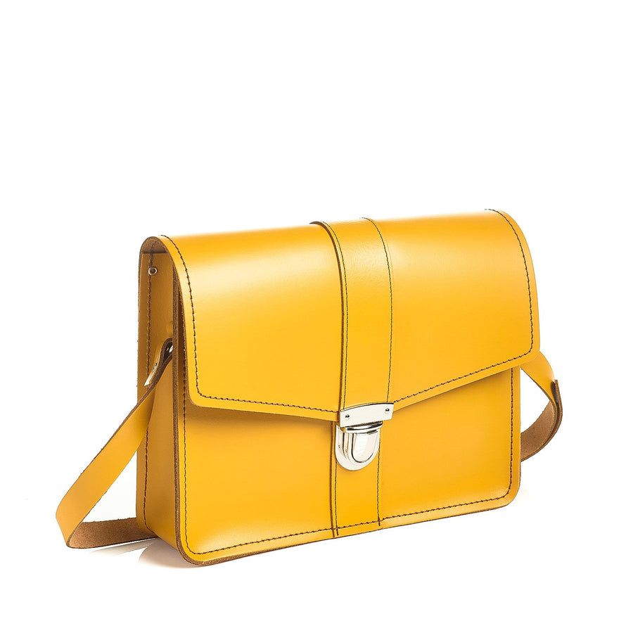 Yellow Ochre Leather Shoulder Bag - Shoulder Bag - Zatchels