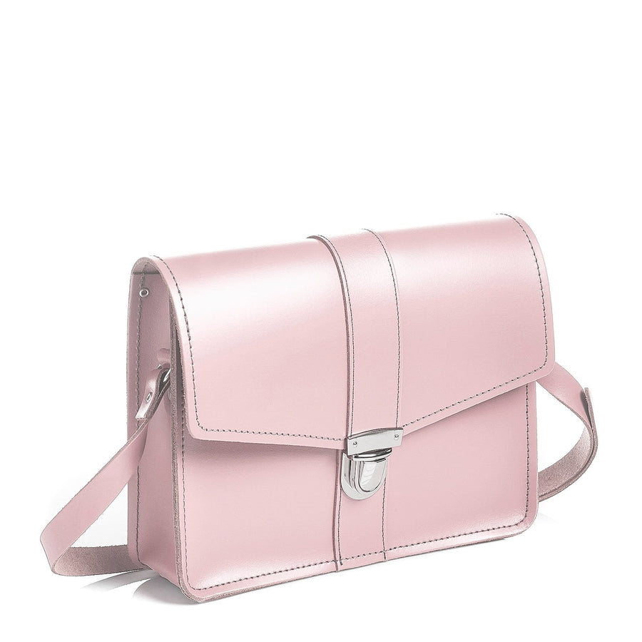 Rose Quartz Leather Shoulder Bag - Shoulder Bag - Zatchels