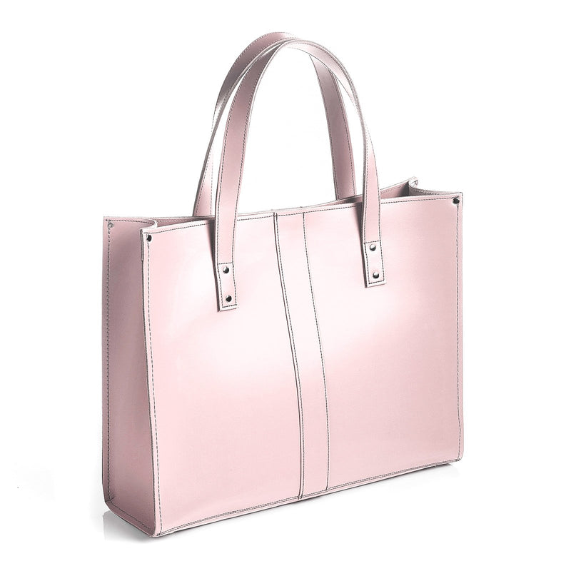 Rose Quartz Leather Shopper - Shopper - Zatchels