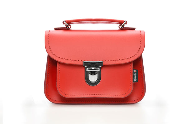 Luna Handmade Leather Bag - Pillarbox Red