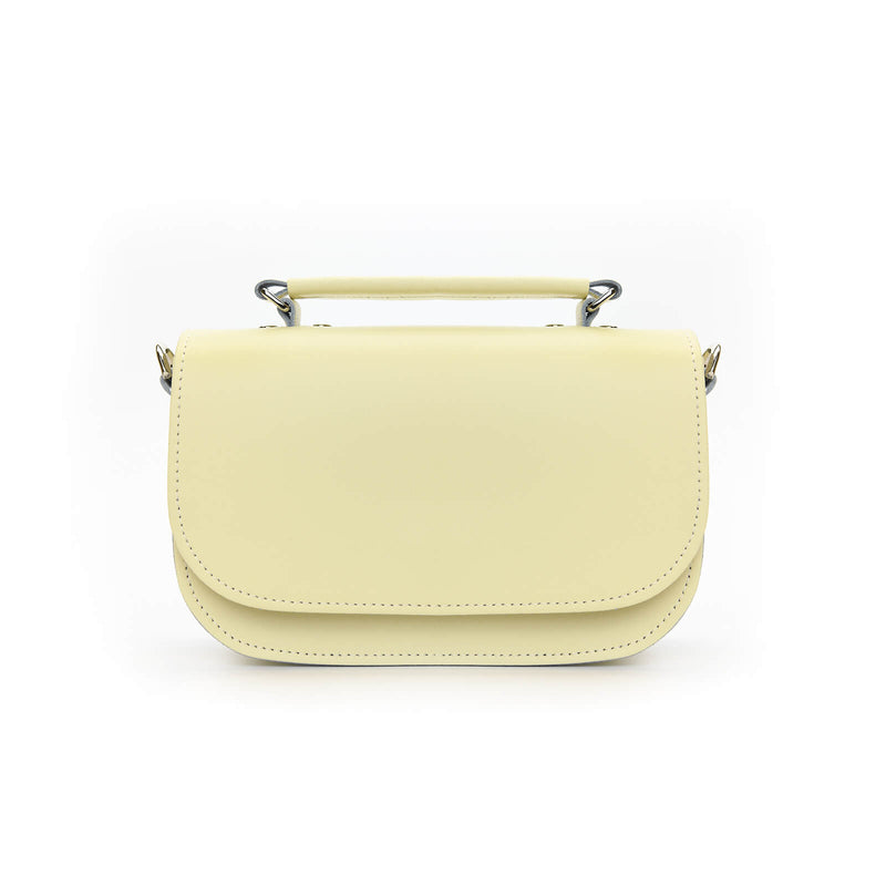 Aura Handmade Leather Bag - Cream