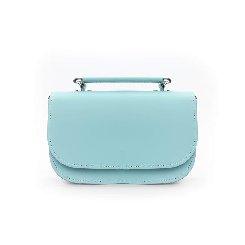 Aura Handmade Leather Bag - Shell Blue