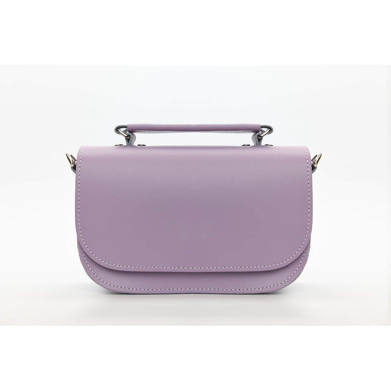 Aura Handmade Leather Bag - Pastel Violet