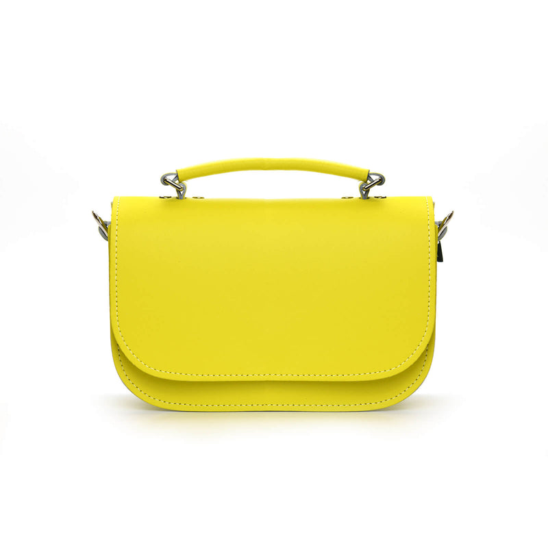 Aura Handmade Leather Bag - Daffodil Yellow