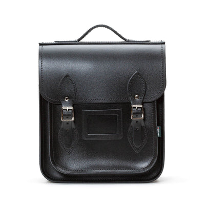 Black Leather City Backpack - Backpack - Zatchels