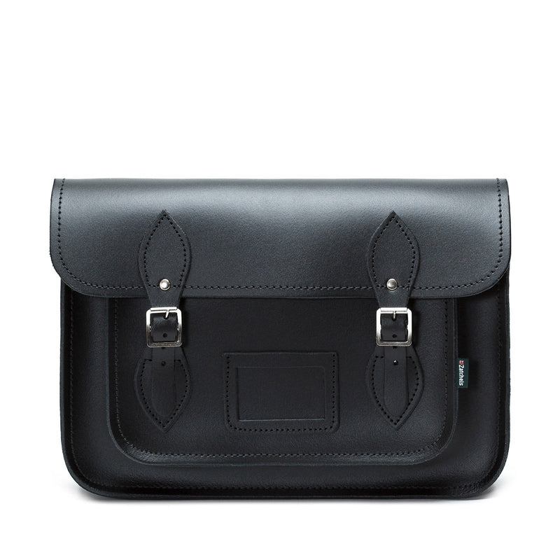 Black Leather Satchel - Satchel - Zatchels