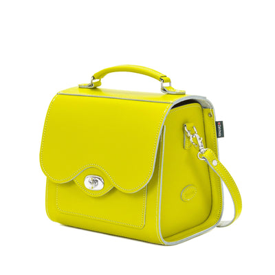 Borneo Leather Twist Lock Sugarcube - Sugarcube - Zatchels