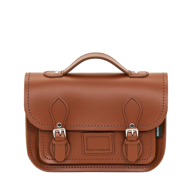 Chestnut Leather Midi Satchel - Midi Satchel - Zatchels