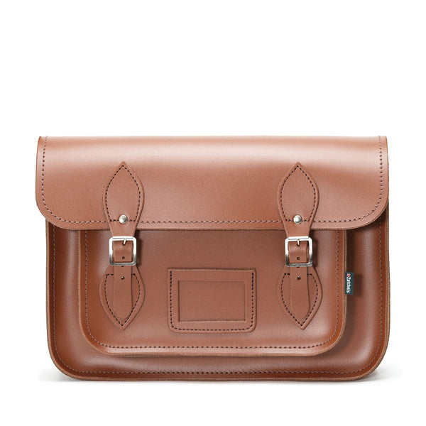 Chestnut Leather Satchel - Satchel - Zatchels