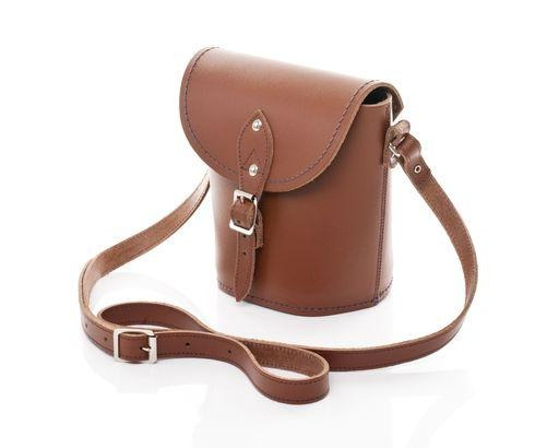 Handmade Leather Barrel Bag - Chestnut