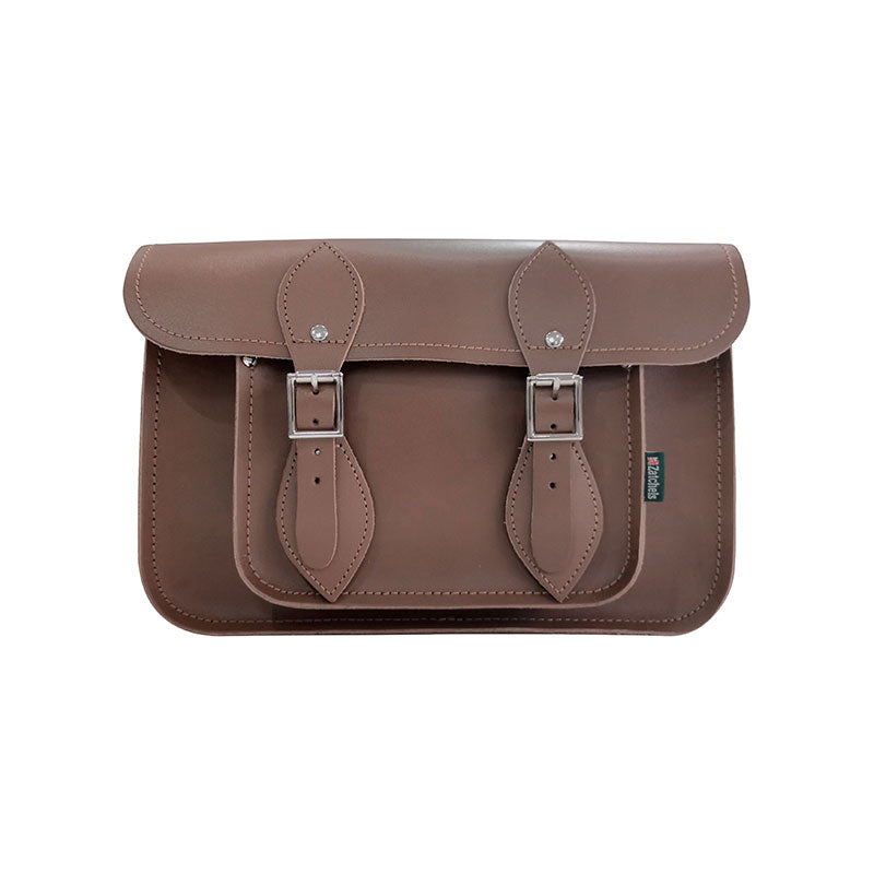 Handmade Leather Satchel - Chocolate