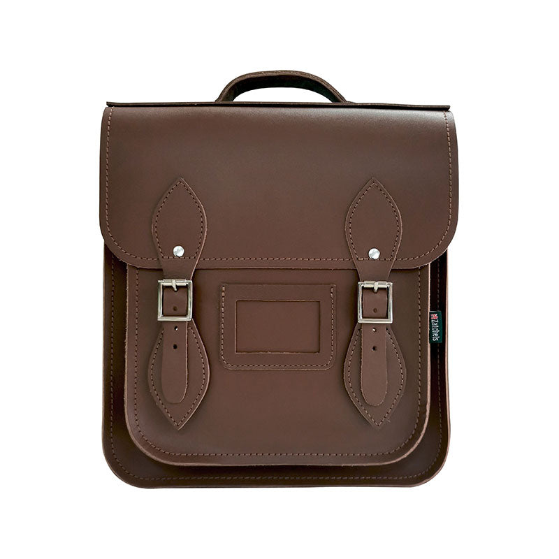 Handmade Leather City Backpack - Chocolate