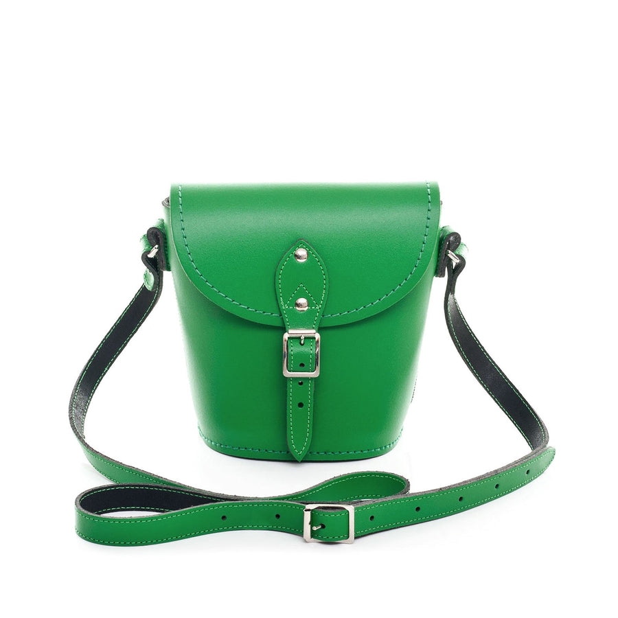 Green Leather Barrel Bag - Barrel Bag - Zatchels