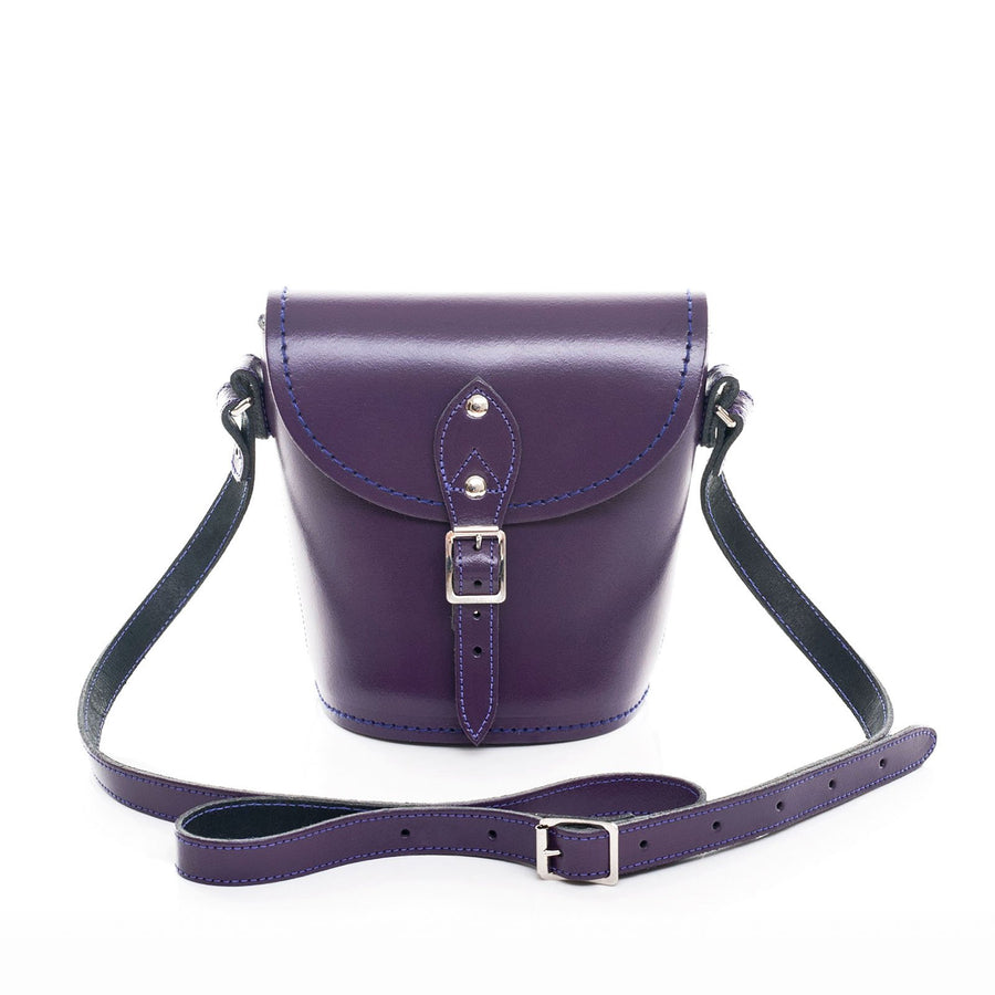 Purple Leather Barrel Bag - Barrel Bag - Zatchels