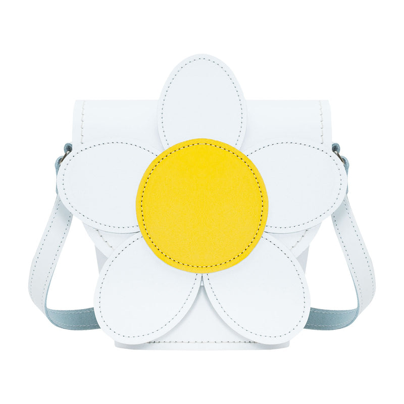 White Daisy Leather Novelty Bag - Novelty Bag - Zatchels