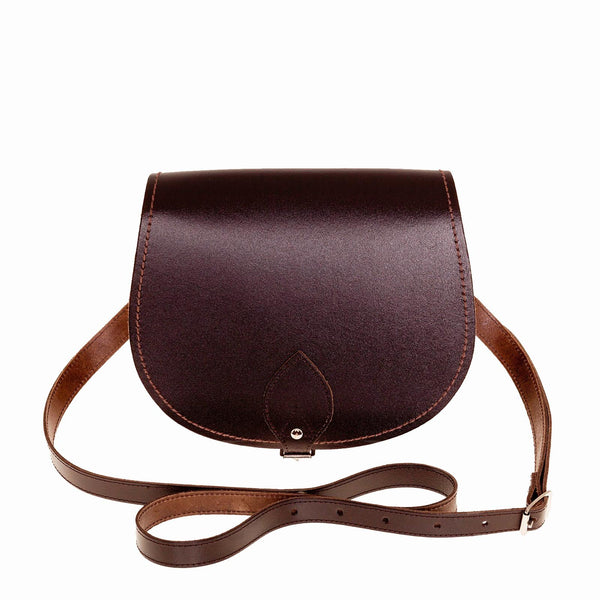 Dark Brown Leather Saddle Bag - Saddle Bag - Zatchels
