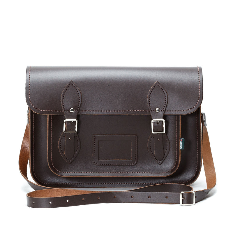 Dark Brown Leather Satchel - Satchel - Zatchels