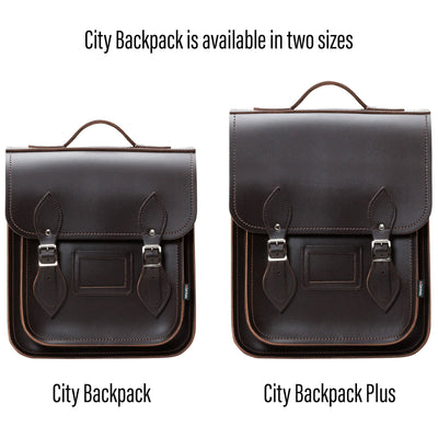 Dark Brown Leather City Backpack - Backpack - Zatchels