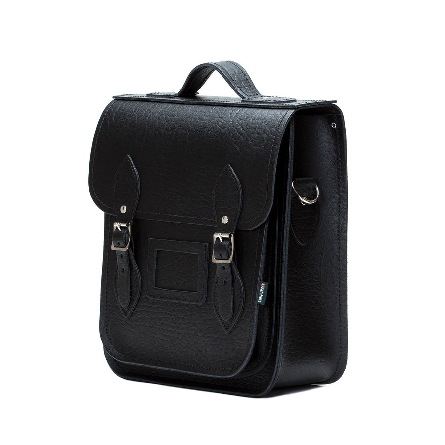 Black Executive Leather City Backpack - Backpack - Zatchels