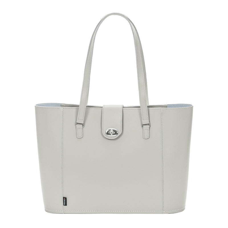 Ghost Leather Twist Lock Shopper - Shopper - Zatchels