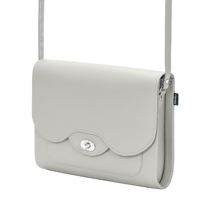 Ghost Leather Twist Lock Shoulder Bag - Shoulder Bag - Zatchels