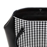 Gingham Leather Tote Bag - Tote - Zatchels