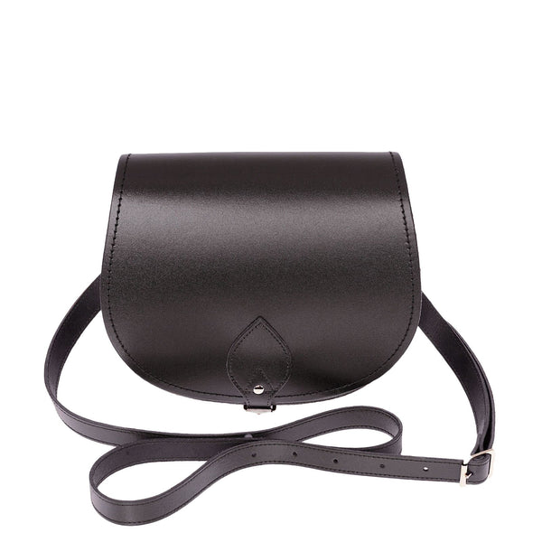 Graphite Leather Saddle Bag - Saddle Bag - Zatchels