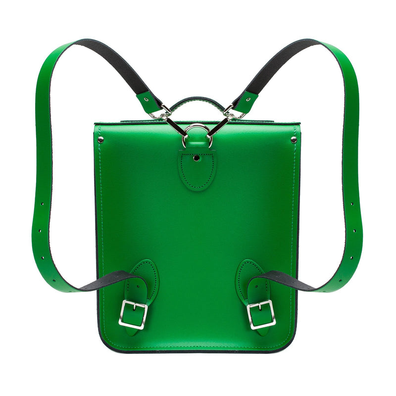 Green Leather City Backpack - Backpack - Zatchels