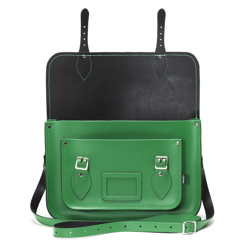 Green Leather Satchel - Satchel - Zatchels