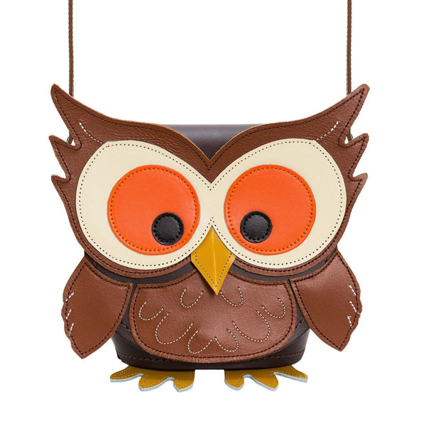 Hoot Owl Leather Bag - Novelty Bag - Zatchels