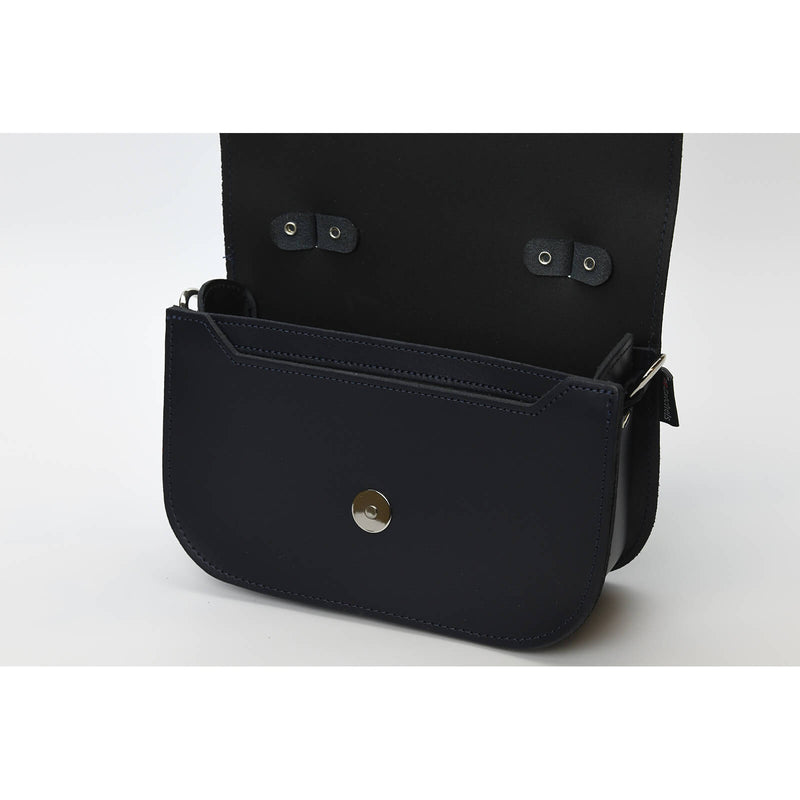 Aura Handmade Leather Bag - Navy Blue