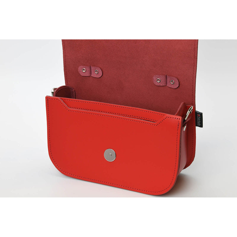 Aura Handmade Leather Bag - Pillar Box Red