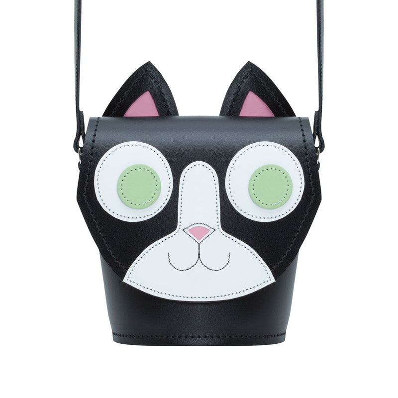 Kitty Cat Leather Bag - Novelty Bag - Zatchels