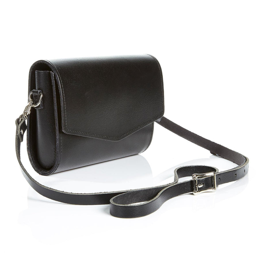Black Leather Clutch - Clutch Bag - Zatchels