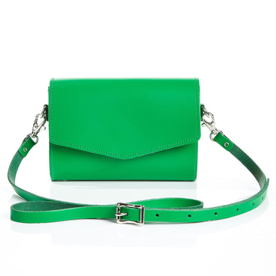 Green Leather Clutch - Clutch Bag - Zatchels
