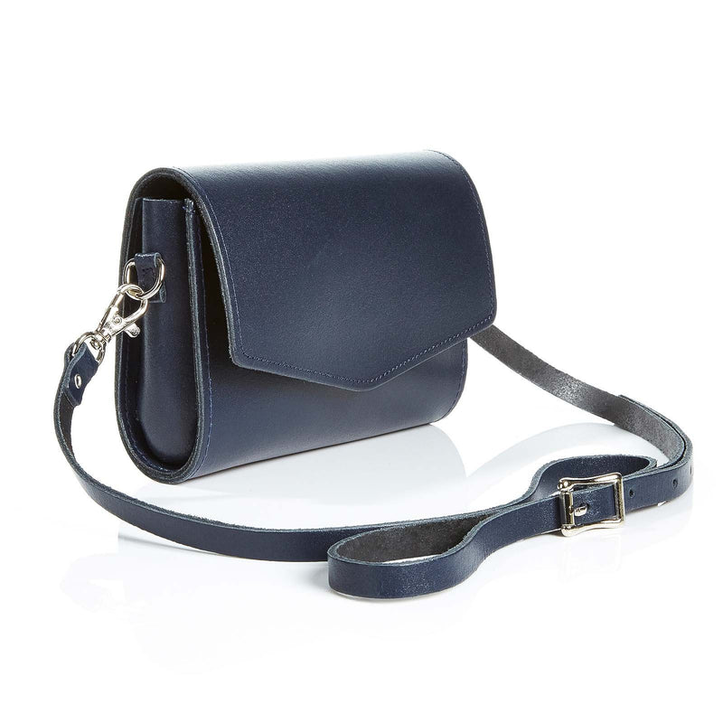 Navy Leather Clutch - Clutch Bag - Zatchels