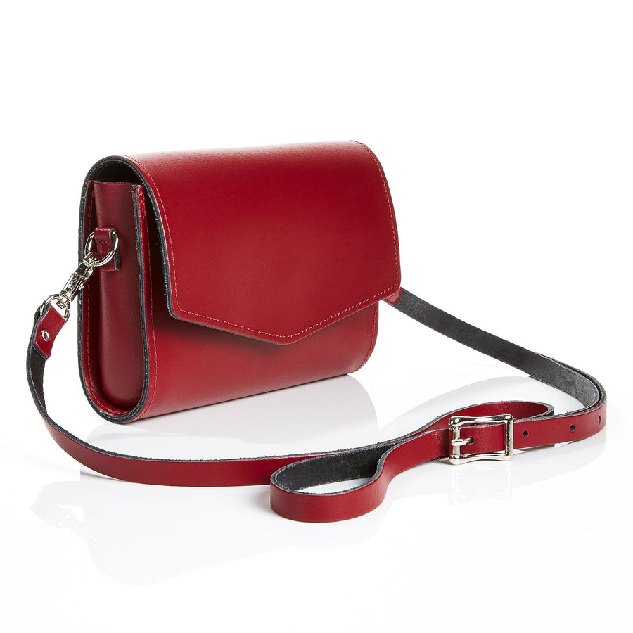 Oxblood Leather Clutch - Clutch Bag - Zatchels