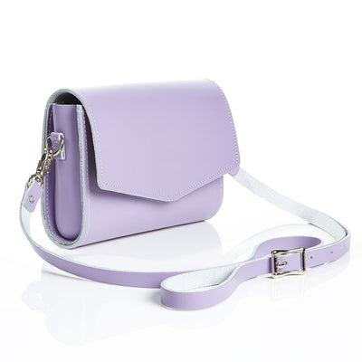 Pastel Violet Leather Clutch - Clutch Bag - Zatchels