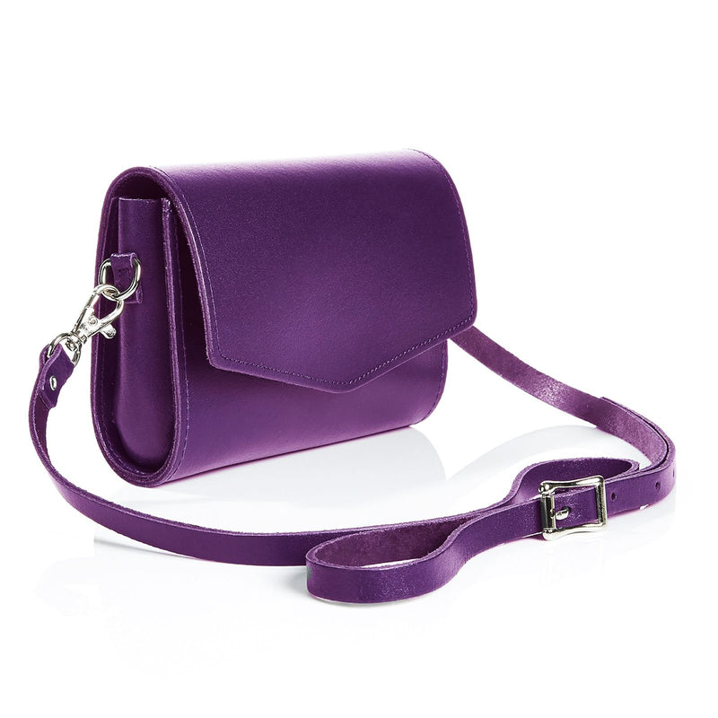 Purple Leather Clutch - Clutch Bag - Zatchels