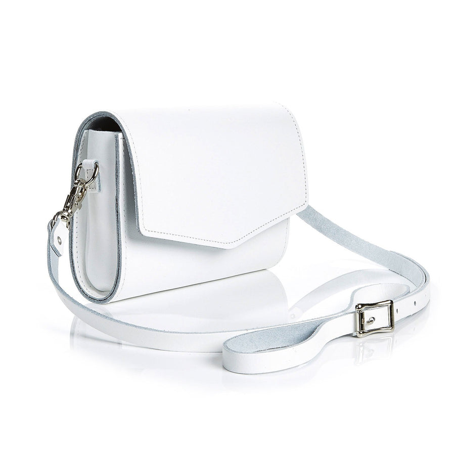 White Leather Clutch - Clutch Bag - Zatchels